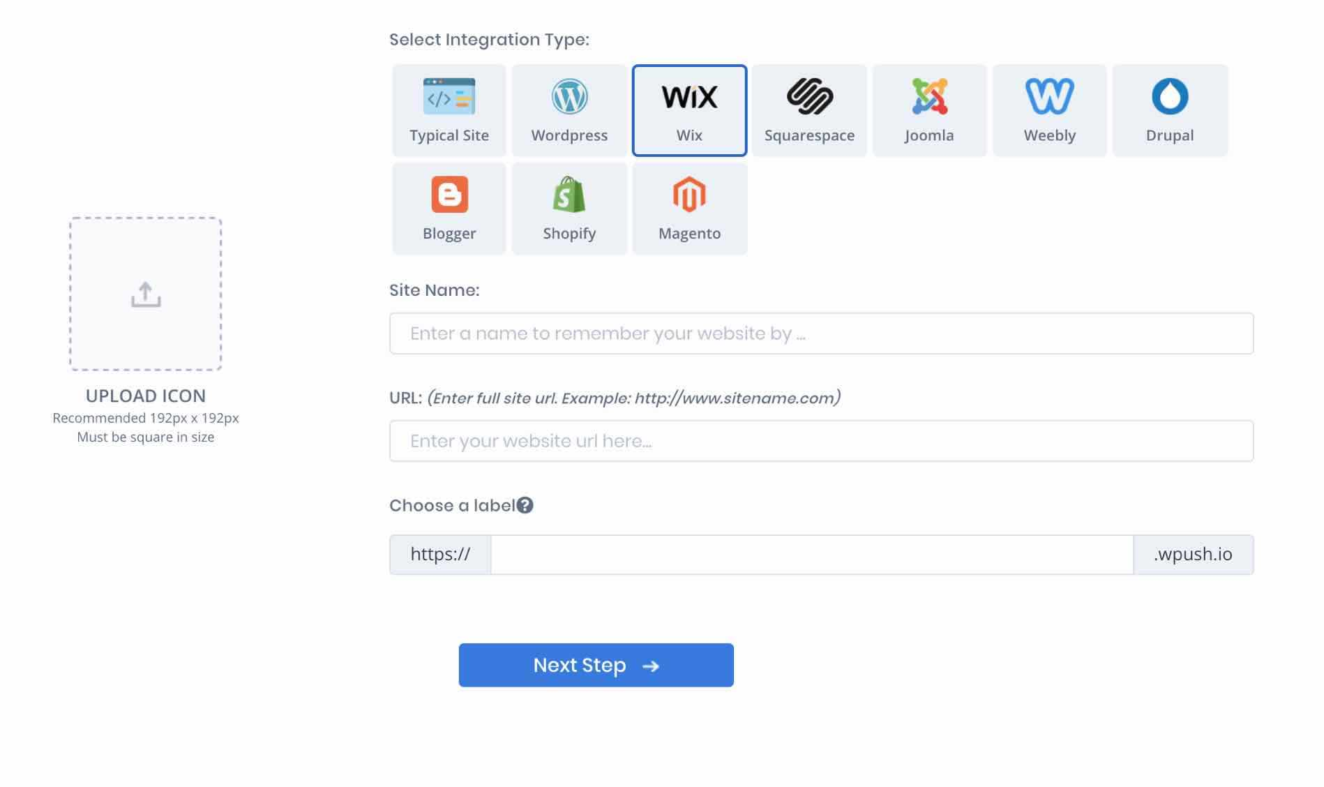 Webpushr Wix Integration